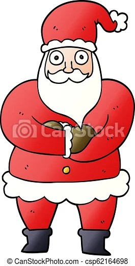 Father Christmas Cartoon Images : father, christmas, cartoon, images, Cartoon, Doodle, Father, Christmas., CanStock