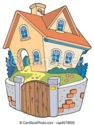 Cartoon family house vector illustration CanStock