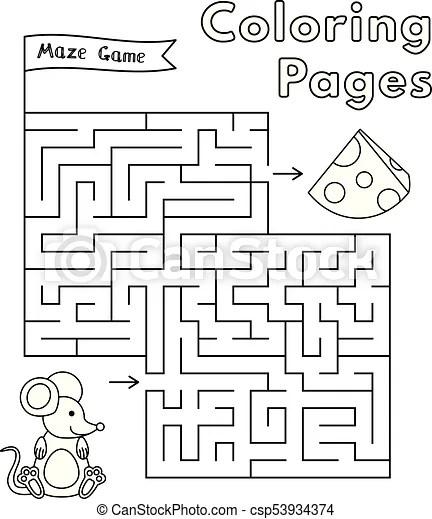 Cartoon mouse maze game. Cartoon mouse maze game. vector