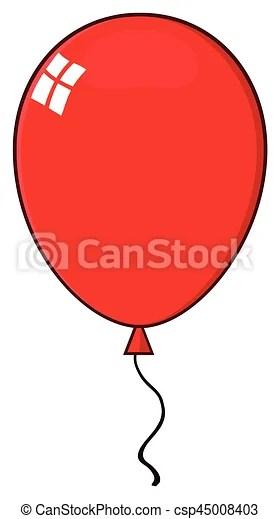 cartoon red balloon. illustration