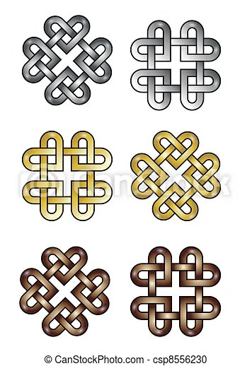 Celtic Knot Hearts Celtic Knot Made Of Hearts Eps10 Vectorformat