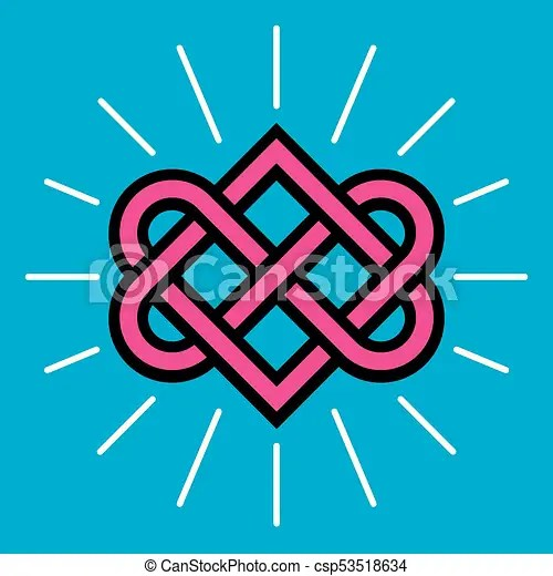 Download Celtic love knot vector design. Classic knot design with ...