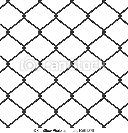 Chain link fence vector. A chain link fence pattern that