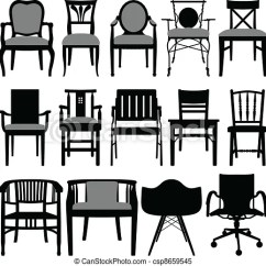 Chair Design Icons Pc Gaming Chairs For Adults A Set Of Silhouette Showing Csp8659545