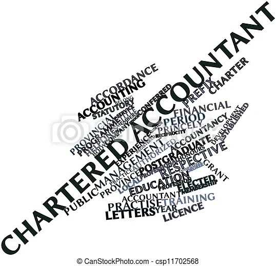 Abstract word cloud for chartered accountant with related