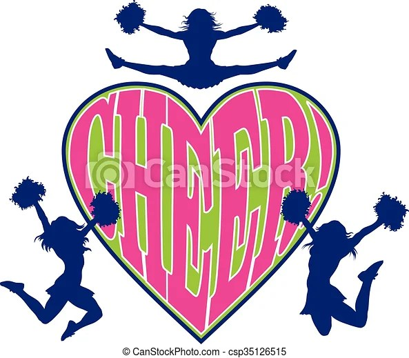 Download Cheer heart is an illustration of a cheerleader design ...