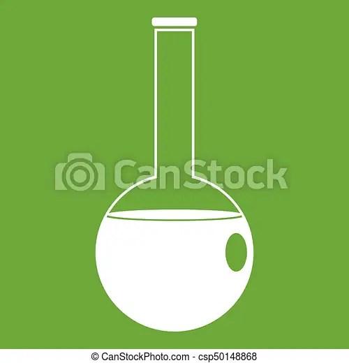 chemical beaker icon green