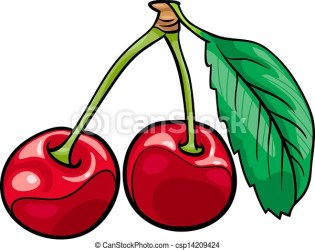 cherry cartoon fruits illustration object food clipart