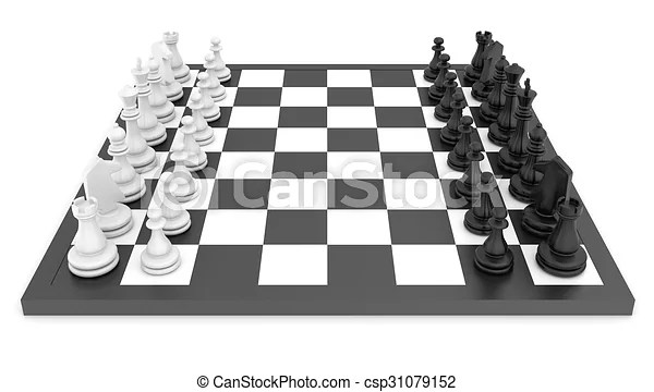 chess pieces standing on