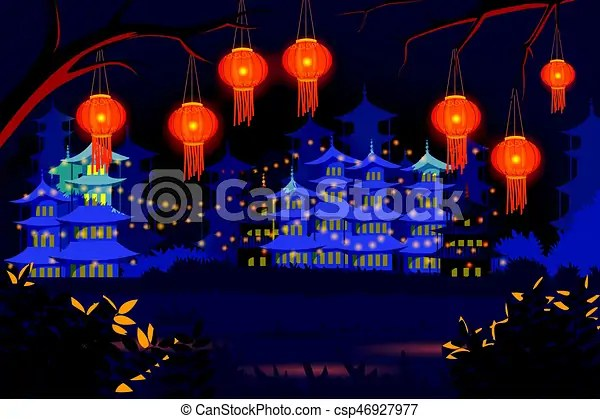 chinese lantern floating in