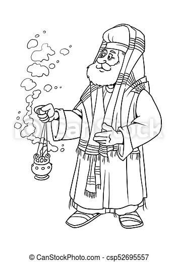Chrismas story. the the priest zacharias. The old priest