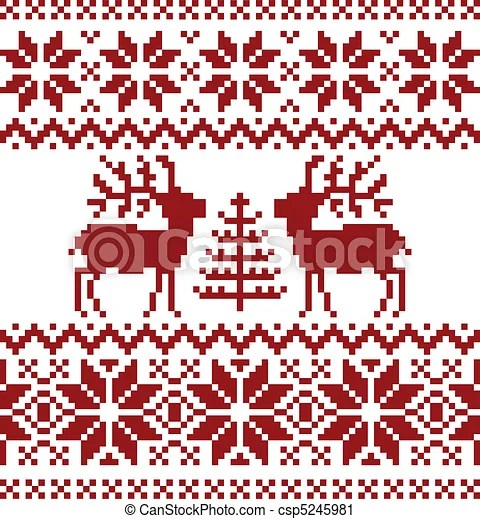 Christmas Norwegian Pattern Collection Of Christmas