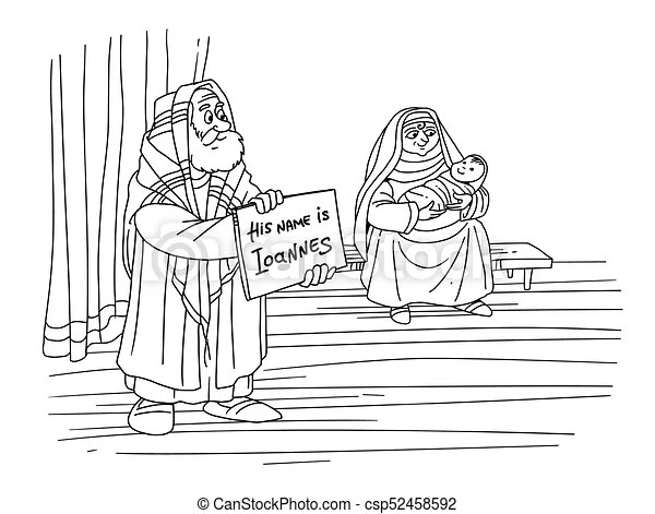 Christmas story. zechariah gives the name of his son john