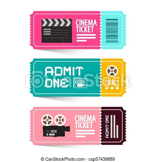 cinema ticket vector illustration