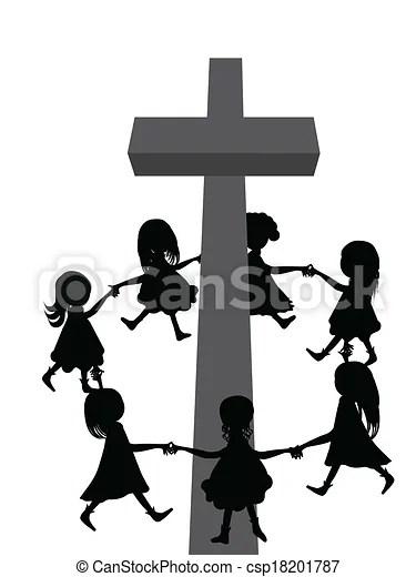 circle cross. group of