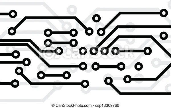 Circuit board. Black circuit board on white background.