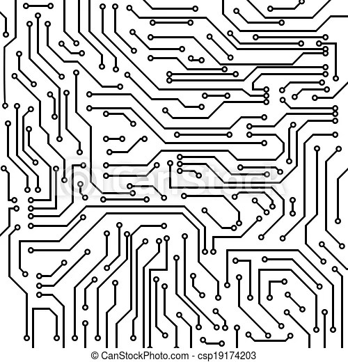 Circuit board vector background. Circuit board black and