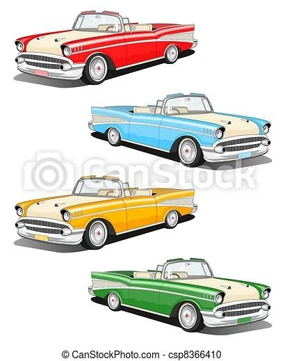 Vintage Car Clipart : vintage, clipart, Classic, Illustration., CanStock