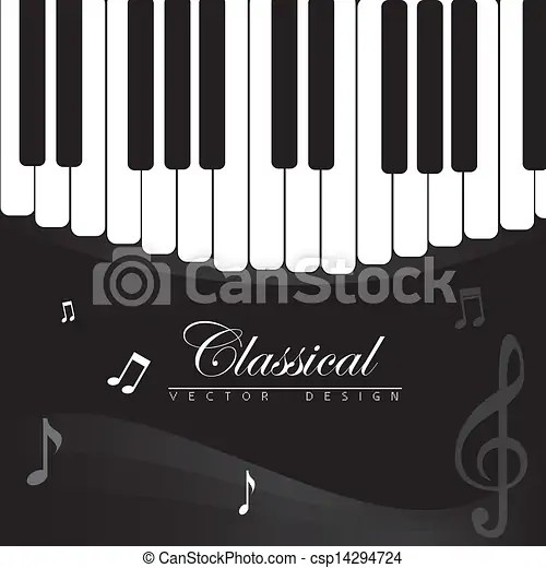 classical music over piano background