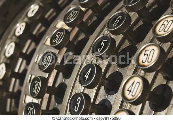 Depending on your account investment you can do so by logging in calling us or by completing a form and posting it to us. Close Up Of Numbered Buttons On Antique Cash Register Canstock
