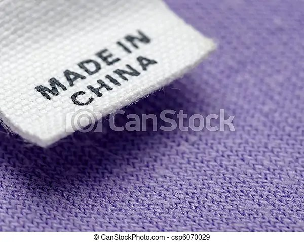 clothing label made in