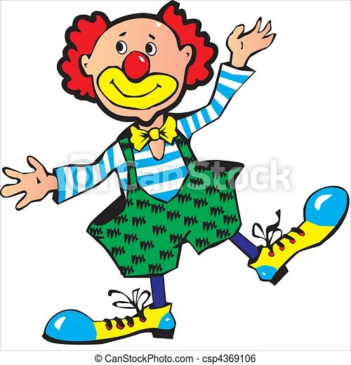 clown. funny red-haired