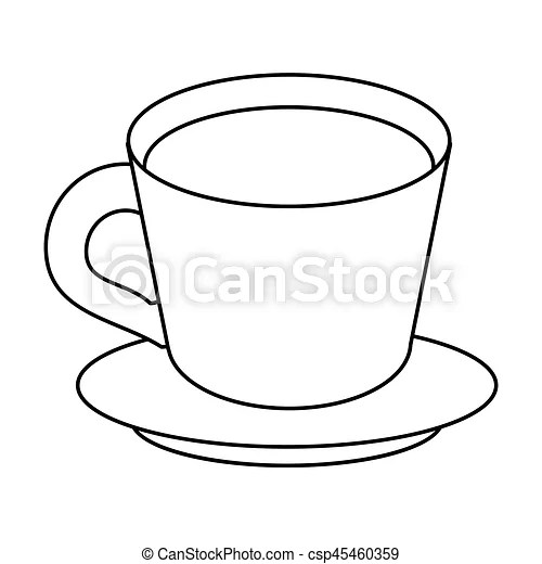 coffee cup plate thin