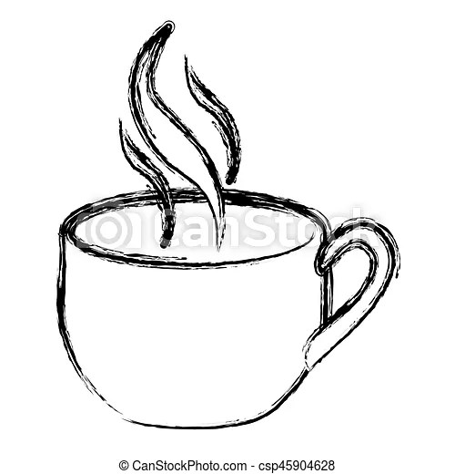 Coffee cup with steam icon, vector illustration design.