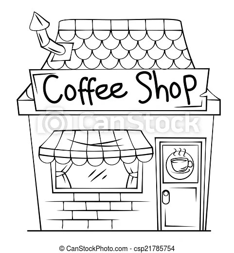 Coffee shop clipart vector - Search Illustration, Drawings and EPS Graphics Images - csp21785754