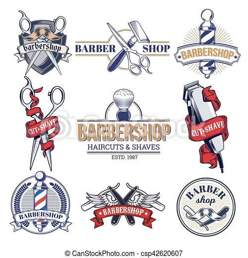 collection badges logos with