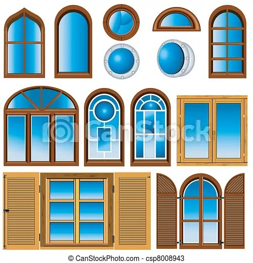 collection of windows. vector illustration