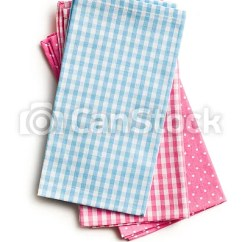 Kitchen Napkins Banquettes For Sale Top View Of Colorful On White Background Csp16565897