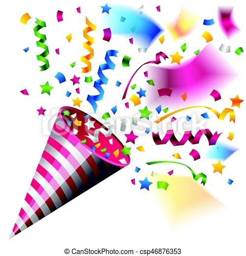 colorful party popper celebration
