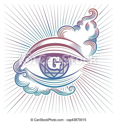 colorful spiritual eye design