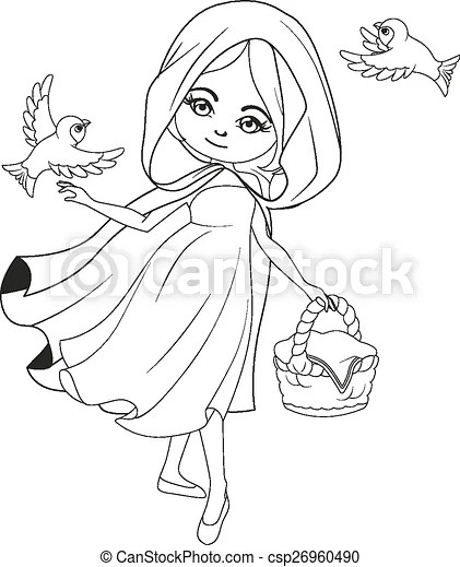 Coloring book: red riding hood.