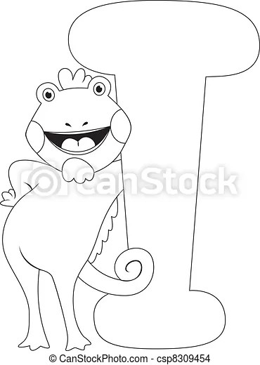 Coloring Page Iguana Coloring Page Illustration Featuring An Iguana