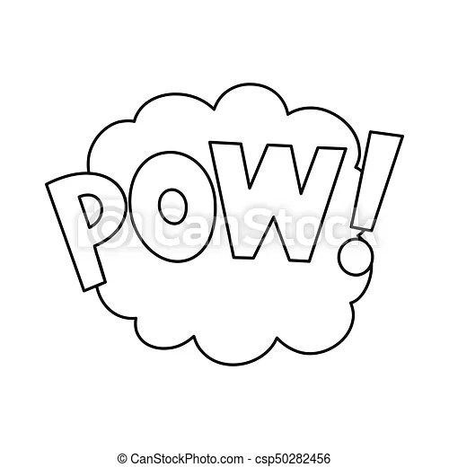 Comic bubble speech icon in outline style vector