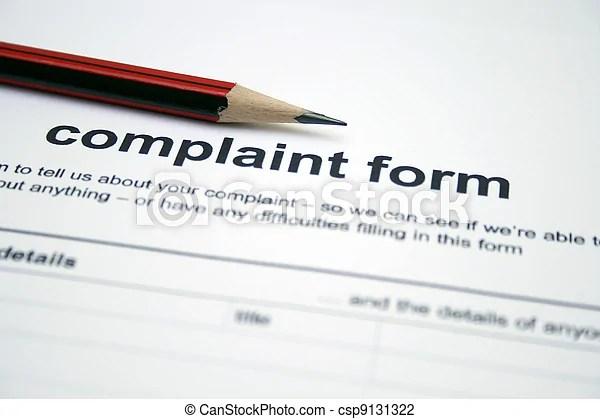 Complaint form.