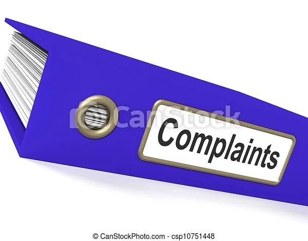 Complaints file shows complaint reports and records. Complaints file showing complaint reports ...