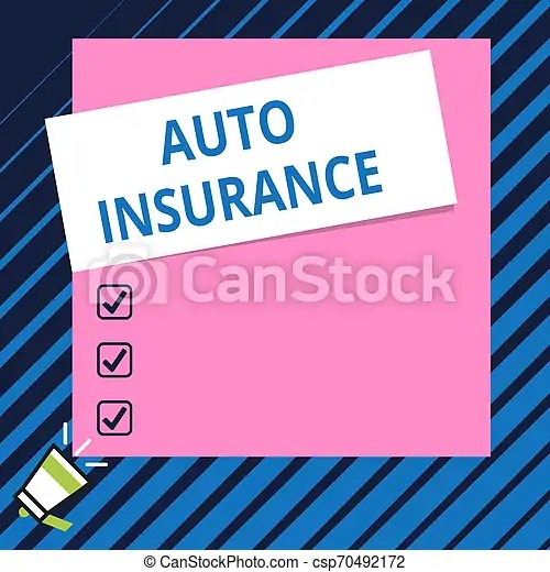 Conceptual Hand Writing Showing Auto Insurance Business Photo Showcasing Protection Against Financial Loss In Case Of