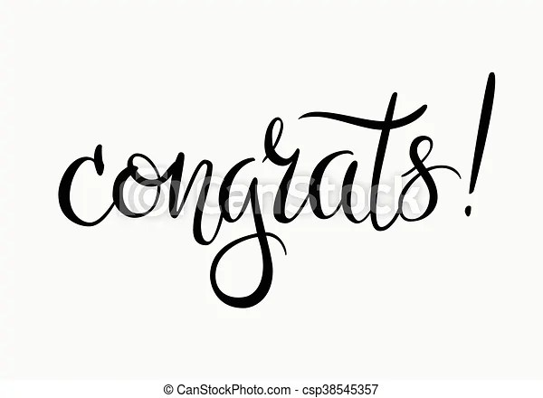 Congrats. congratulations card. Congratulations. hand