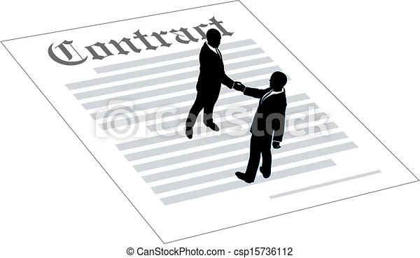 Contract business people sign agreement. People agree to