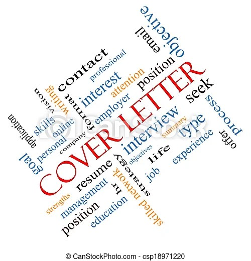 Cover letter word cloud concept angled Cover letter word cloud concept angled with great terms