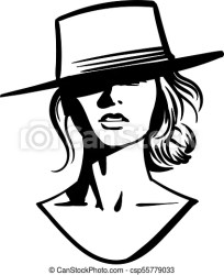 cowboy face hat vector illustration drawing clipart drawings graphic clip unlimited missing unique piece found icon line