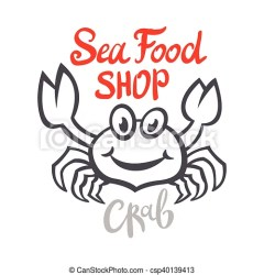 crab seafood silhouette vector branding packaging craft restaurant template