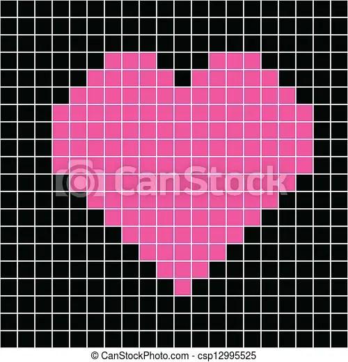 Cross stitch heart. Cross-stitch heart pattern vector.