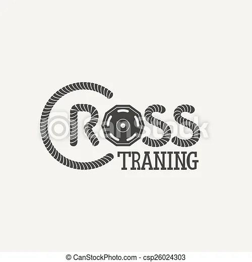 Cross training logo. Cross training fitnes. vector