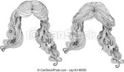 curly hair style in black and white