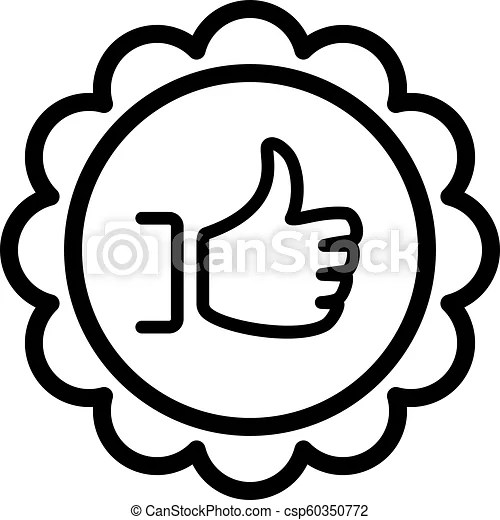 Customer choice line icon. client satisfaction symbol