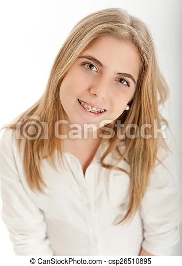 Cute Blonde Teenager Csp26510895